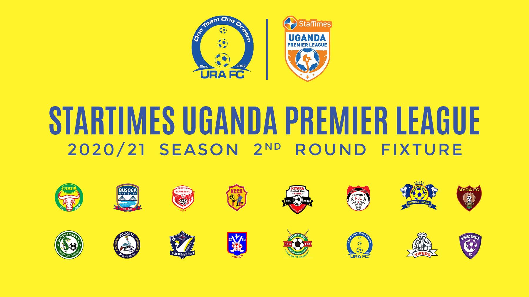 StarTimes Uganda Premier League 2020/21 2nd Round fixtures